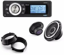 "Aquatic AV Bluetooth Stereo kit with Premium 6.5""  Speakers 98-13 Harley FLTR"