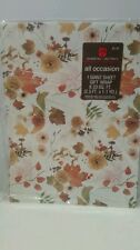 Vintage AMERICAN GREETINGS Fall Any Occasion Wrapping Paper Gift Wrap Leaves
