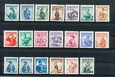 """Österreich / Postfrische Markenlot """"Trachten"""" von  1958/59"""