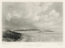 "John Constable / David Lucas ""Cornfields near Brighton"" mezzotint engraving"