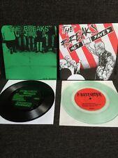 """The Breaks 2 X 7"""" LOT Firestarter Records Hardcore Punk"""