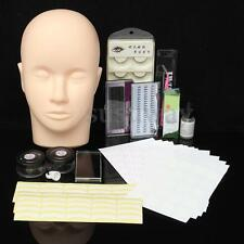 Eyelash Extension Practice Kit Mannequin Training Head Lashes Glue Makeup Tool