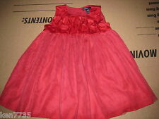 BABY GAP 3D ROSETTE PHOTO OP RED FLOWER DRESS SIZE 18-24 MONTHS CHRISTMAS DRESS