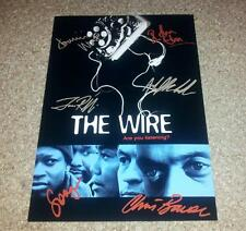 "THE WIRE CASTX6 PP SIGNED PHOTO POSTER 12"" X 8"" A4 DOMINIC WEST IDRIS ELBA N2"