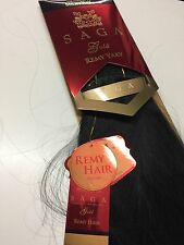 "Milkyway Saga Gold 100% Human Hair Remy Yaky 22"" Color 1 Jet Black"