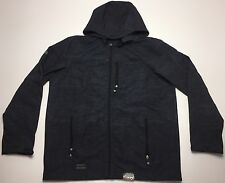 NEW POINT ZERO GOLD EDITON MENS DRY EDITION BLACK HOODED JACKET COAT LARGE