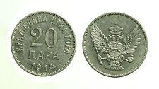 pci3532) Jugoslavia 20 Para 1914 Montenegro Nikolaus, 1860 - 1918