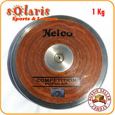 1Kg NELCO Wood & Metal Rim Discus IAAF Athletics Competition Throw Equipment