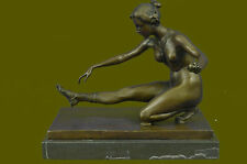 Bronze Sculpture Detailed Classic Nude Naked Artwork Lady Hand Made Figure