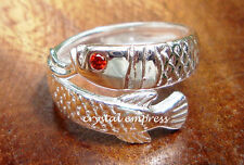 Feng Shui - 2016 Adjustable Arowana Ring (925 Sterling Silver) - RING ONLY