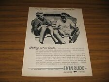 1945 Print Ad Evinrude Outboard Motors 2 Boys Fishing in Boat
