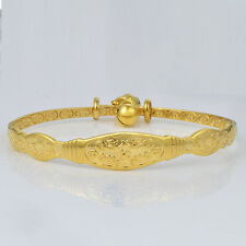 Toddler Jewelry Girls Charm 18K Yellow Gold Filled Bell Infant Bangle Bracelet