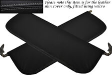 GREY STITCHING FITS RILEY WOLSELEY 1500 2X SUN VISORS LEATHER COVERS ONLY