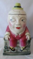Rare Humpty Dumpty Sitting on a Brick Wall With Gold Bank and a Cookie Jar H943.
