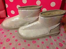 Victoria's Secret PINK Bling Sequin Booties Slippers Medium 7-8 NEW RARE