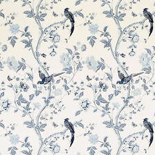 LAURA ASHLEY - Summer Palace floral wallpaper - Royal Blue - 2 Rolls NEW RRP £80