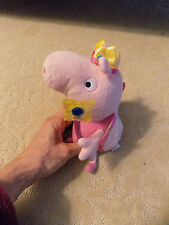 "Adorable Princess Peppa Pig Ty Beanie Baby Plush Toy Pink Fairy Wand 6"" Doll  84"