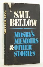 1968 MOSBY'S MEMOIRS FIRST EDITION SAUL BELLOW HARDCOVER DUST JACKET NOBEL PRIZE