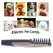 Exquisite Electric Pet Grooming Flea Comb Black Grey Dog Cat Knot Out Tangles LE
