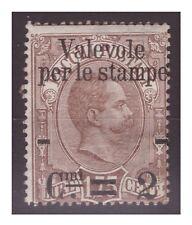 REGNO 1890 -   VALEVOLE  PER LE STAMPE   LIRE  1,75     NUOVO *