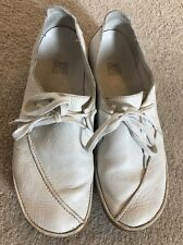 Ladies Clarks Active Air Ivory Leather Lace Up Shoes UK Size 6