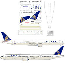 United Boeing 777-300ER  airliner Decal (1:200 scale) For Hasegawa Kit