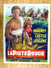 belgian poster, western, OVERLAND PACIFIC, JACK MAHONEY, PEGGIE CASTLE