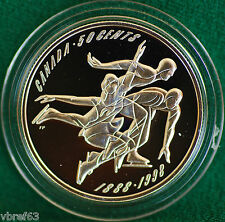 1998 Canada First Official Amateur Figure Skating Championship Proof 50 cent
