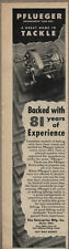 1945 Vintage Ad Pflueger Fishing Reels,Tackle Akron,Ohio