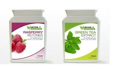 30 RASPBERRY KETONES & 30 GREEN TEA COLON CLEANSE DIET SLIMMING CAPSULES BOTTLES