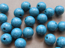 20 Teal-Blue 12mm Turquoise Gem Designs Acrylic Beads(G45J2)