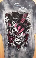 NWT Hybrid UFC MMA Tee Skull Guitar Hard Rock Biker Tatoo L Large Men's T-shirt