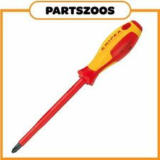 Knipex Phillips Head PH3 Screw Driver Insulated VDE 1000V New 982403