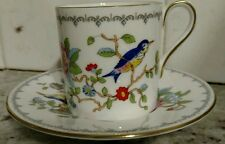 AYNSLEY ENGLAND FINE ENGLISH BONE CHINA DEMITASSE CUP & SAUCER(s) ~ PEMBROKE
