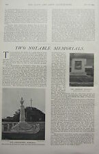 1902 PRINT ~ MEMORIALS ~ LOCKHART MEMORIAL ~ THE ABERCROMBY
