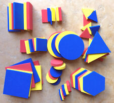 Attribute Blocks, Quiet Foam, Shape, Color, Size, Thick', Learning Resources 60