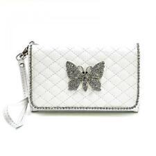 Schmetterling Strass Handy Tasche Schutz Hülle Flip Cover Klapp Etui Case Schale