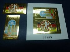 CAMBODIA KHMERE 1972 Olympiade Olympics Munich Gold 351-52 + Block B29 Imperf **