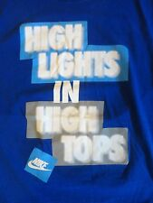 Nike High Lights in High Tops Blue T Shirt Adult L Free US Shipping