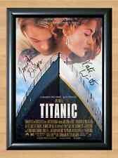Titanic Film Leonardo Di Caprio Kate Winslet Signed Autographed A4 Poster Print