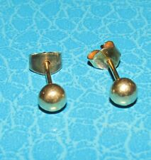 STUNNING  9ct YELLOW GOLD HOLLOW SPHERE/BALL  STUD EARRINGS FOR PIERCED EARS
