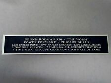 Dennis Rodman Bulls Nameplate For A Basketball Display Case Or Photo 1.5 X 8