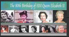 Isole Cayman sgms1097 80esimo compleanno della Regina Elisabetta MNH