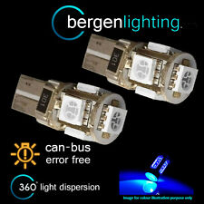 2x W5w T10 501 Canbus Error Free Azul 5 Led sidelight Laterales Bombillos sl101303
