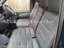 Vauxhall Vivaro Van Seat Covers- Quilted Grey- PVC Leather- Made to Measure