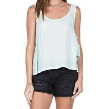 NEW VOLCOM BE EVERYTHING TANK CAMI TOP Aqua TEE  SMALL S196 $43.50