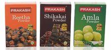 Prakash Hair Care Combo Powder (Amla 100g + Reetha 100g + Shikakai 100g) 300g