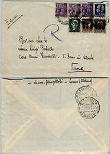 RSI-50c MONUMENTI DISTRUTTI (507)-Busta espresso LESENO- Verona 28.3.1945