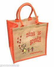"""Nana is Great"" Jute Shopper from These Bags Are Great"