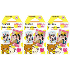 3 Packs 30 Photos Rilakkuma I Love gyu FujiFilm Fuji Instax Mini Film Polaroid